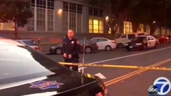San Francisco police found a dismembered body when they opened a suitcase abandoned on a downtown street and then made another gruesome discovery when they uncovered more body parts nearby.