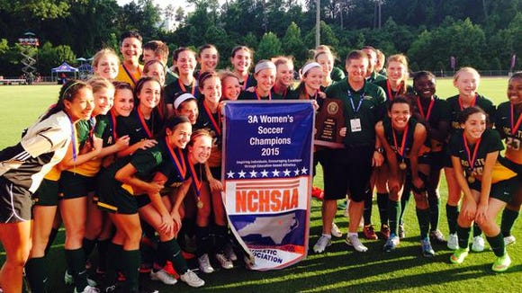 The Reynolds girls won the NCHSAA 3-A soccer championship on Saturday in Raleigh.