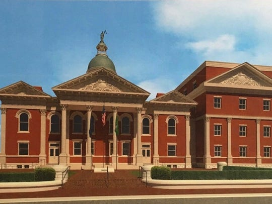 A rendering of Augusta County's proposed design for