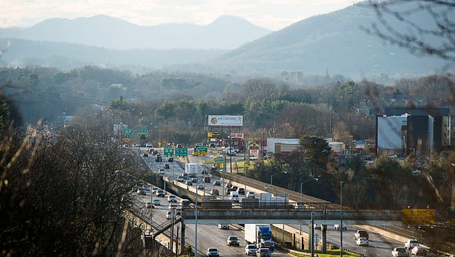 The state has moved up the start date for a section of the I-26 Connector that will bypass Bowen Bridge, shown above.