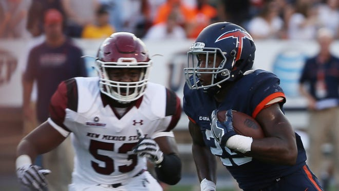New Mexico State faces UTEP on Saturday at Aggie Memorial Stadium in Las Cruces