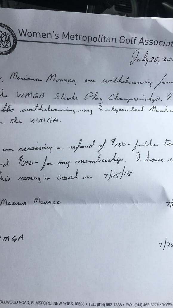 The WMGA forced Marianna Monaco to sign a letter of