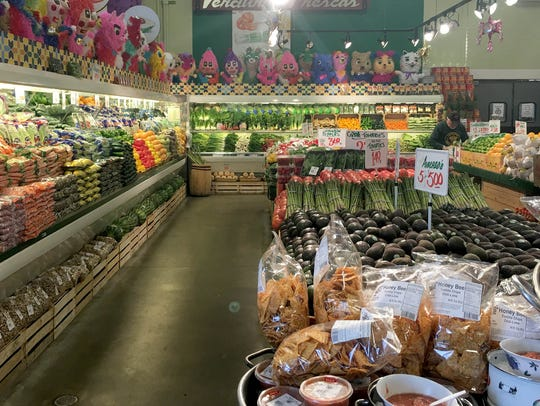 The produce section at Honey Bee Market in southwest