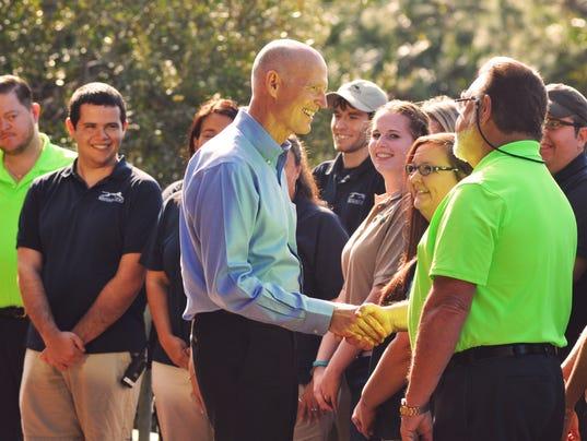Governor Rick Scott at Brevard Zoo