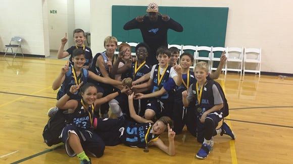 The Team Carolina Asheville 11 and under boys basketball