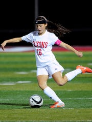 South Salem midfielder Kaitlyn Paluska controls the