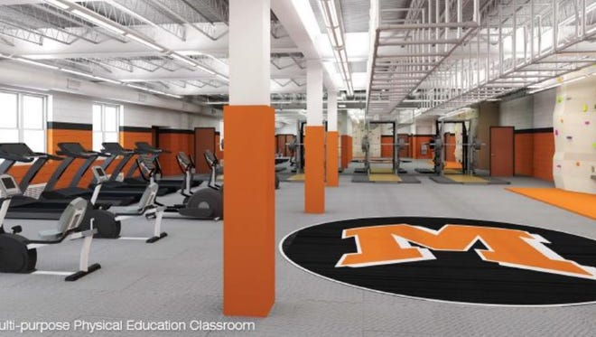 As part of the bonded project, the Mamaroneck school district will reconfigure its gym, with new teaching spaces for physical education classes