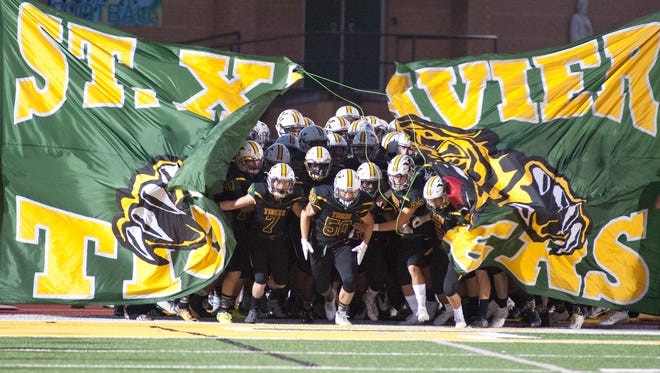 The St. Xavier Tigers take to the field against Male. 13 October 2017