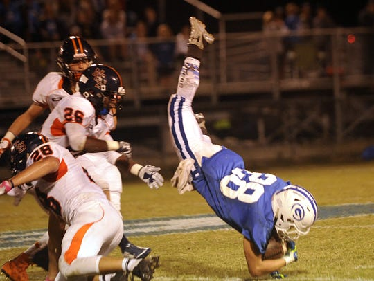 Gordonsville running back Braxton Givens (28)