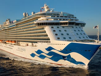 Woman who plunged to death from upper deck of Princess ship identified