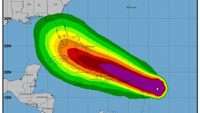 Hurricane Irma 11 a.m. Sept. 5, 2017