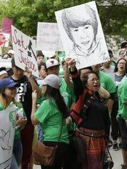Hundreds of demonstrators rally May 31 at The 400 Block