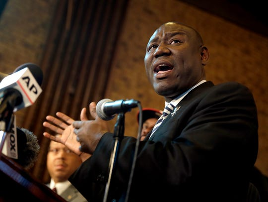 Attorney Benjamin Crump speaks during a news conference