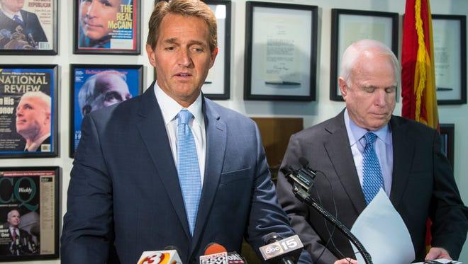 Sens. John McCain and Jeff Flake.