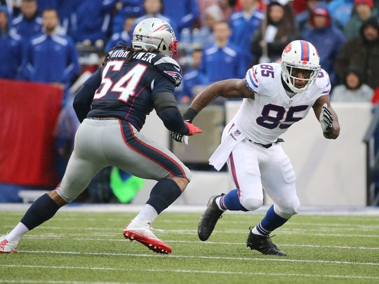 Bills tight end Charles Clay has just 34 catches for 306 yards this season.