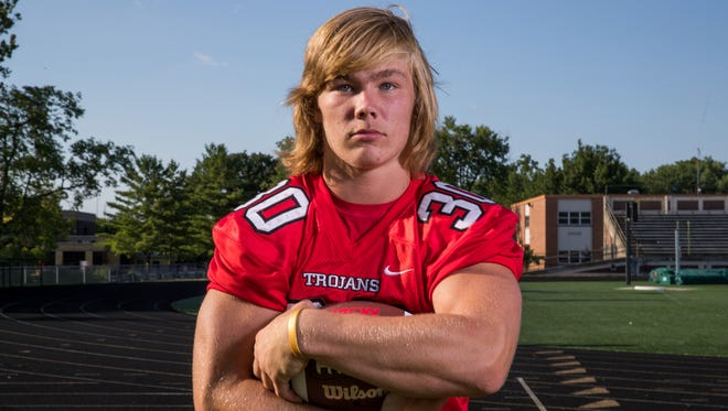 Carson Steele, running back, Center Grove High School, part of the IndyStar Super Team for football.