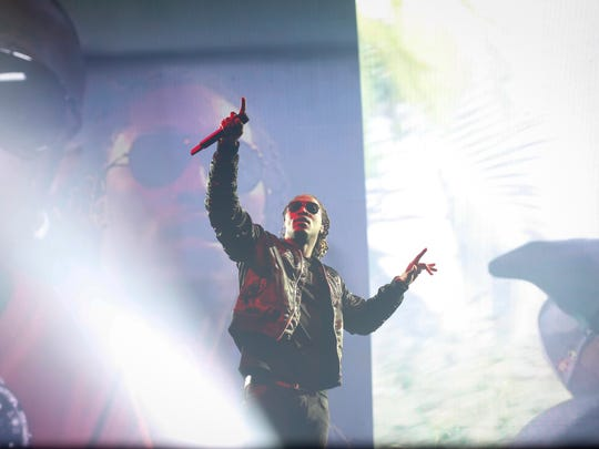 Hip-hop artist Future performs to a sold out crowd