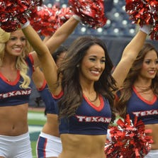 The Houston Texans Cheerleaders rocked the slidelines at NRG Stadium Thursday, Aug. 28, 2013 as the team hosted the San Francisco 49ers in their final game of the preseason.