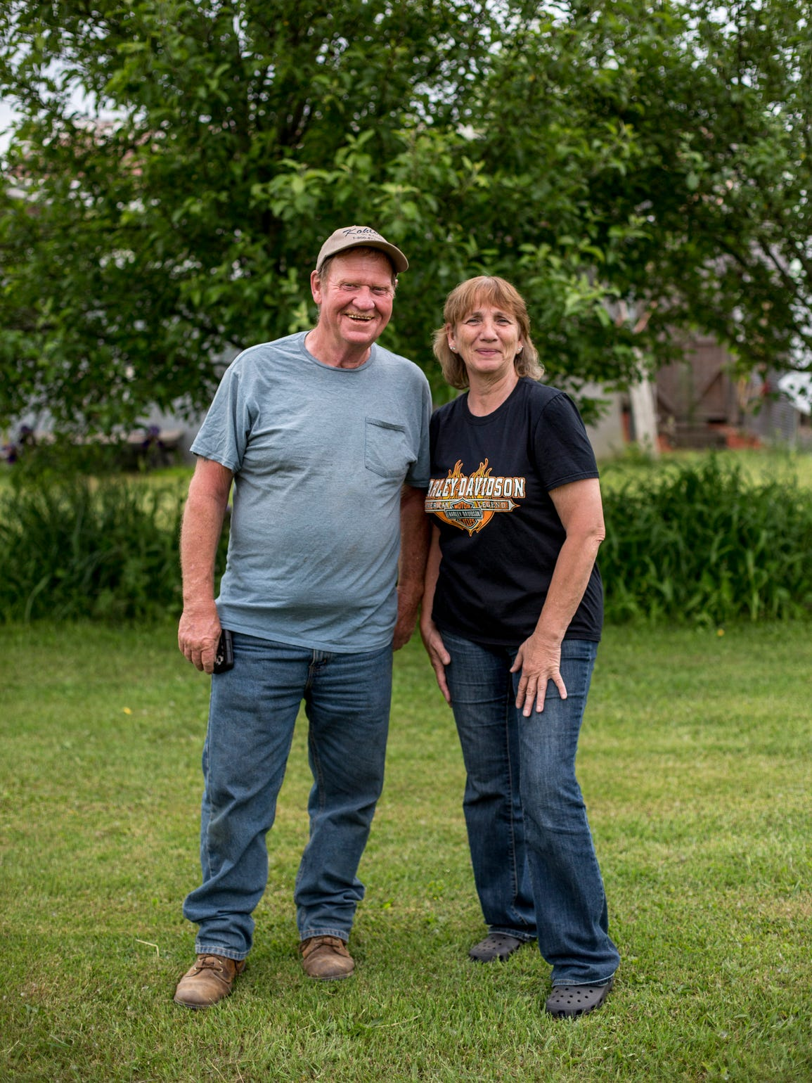 Tom and Brenda Owens pose Friday, June 9, 2017 in Maple