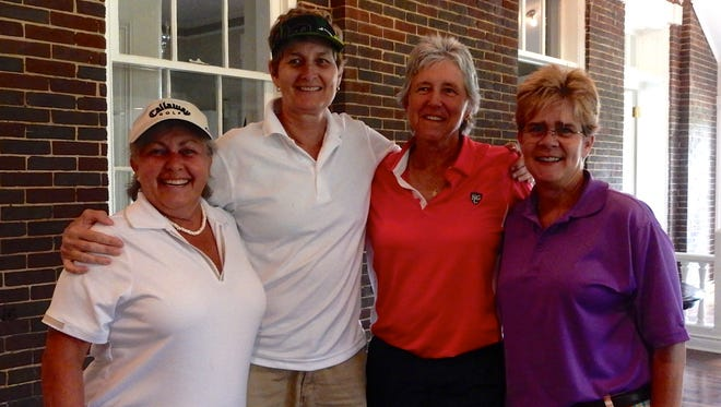 The tournament's first-place B flight was awarded to Julie Lawson, Paula Pahmier, Debbie Gluynn and Linda Highfill.