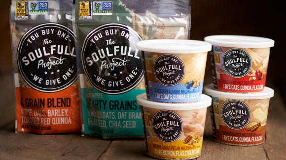 The Soulfull Project matches every serving sold of its multigrain cereals with a donation of a serving to a food pantry or food bank.