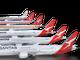 Qantas' livery through the years.