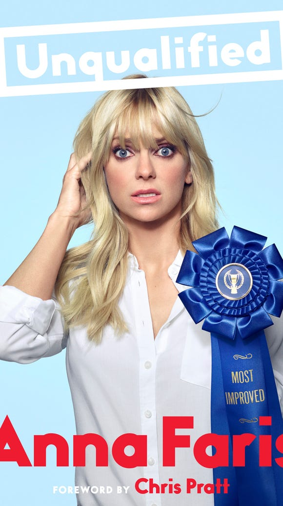 The book cover for Anna Faris' 'Unqualified' out Oct.
