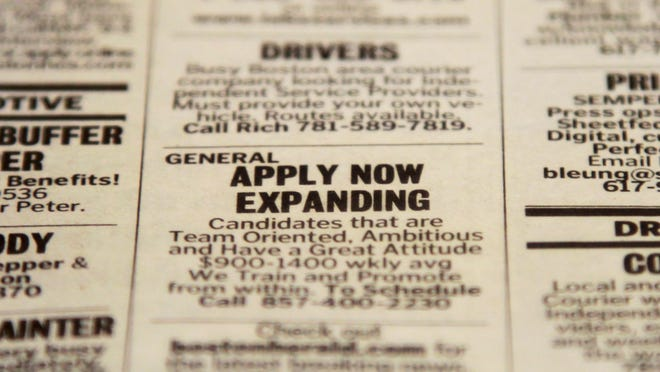 """A """"help wanted"""" ad."""