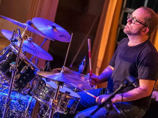 Drummer Ray Ketchem of Elk City.
