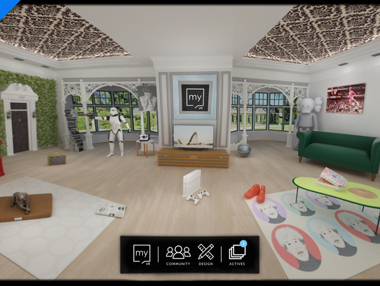Personalize your own virtual space, with videos, music