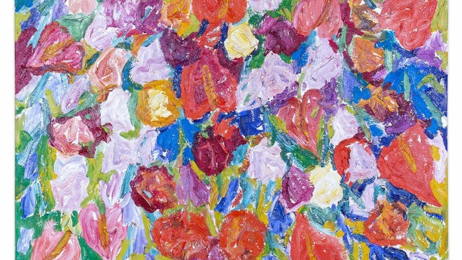 Hunt Slonem's oil painting Tropical Flowers is one of the paintings that will be featured in the May 29 online The Altruistic Art Auction.