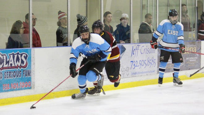Zach Noble of Toms River East led the Raiders to an 11-1 Mayor's Cup victory over Central on Sunday.