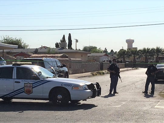 El Paso police block a street Friday evening during a SWAT situation on De Vargas Drive.