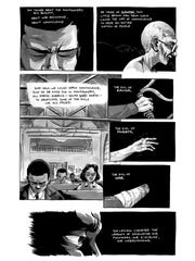 John Lewis graphic novel trilogy, March: March-Book One interior art.
