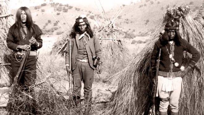 Slim Jim, the Apache Kid and an unknown Apache.