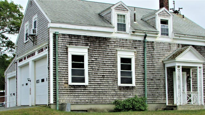 The Pocasset Fire Station at Barlows Landing Road was built in 1933, and it might be replaced if a special Bourne committee can find a suitable new location for a firehouse.    Photo by Paul Gately