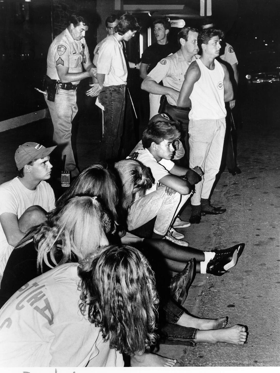 Palm Springs police arrested hundreds of spring breakers during a riot in 1986. The riot was the beginning of the end for spring break in the city.
