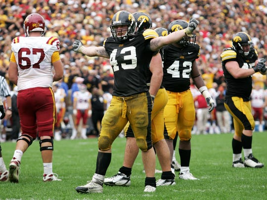 Pat Angerer was a force a linebacker for Iowa during