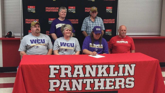Franklin senior LesLeigh Tabor has signed with the Western Carolina University track and field program.
