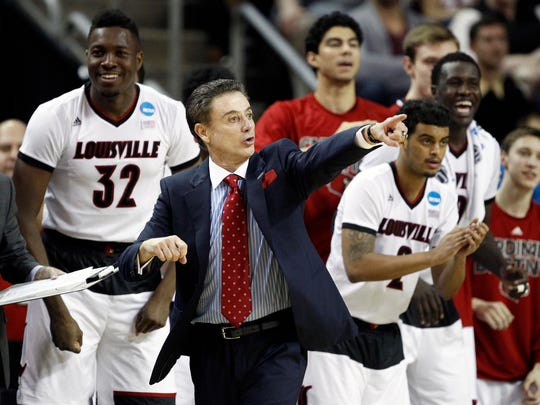 Louisville head coach Rick Pitino is two wins away from his sixth Final Four. The Cardinals face ACC-foe North Carolina State on Friday night in an East Regional semifinal at the Carrier Dome