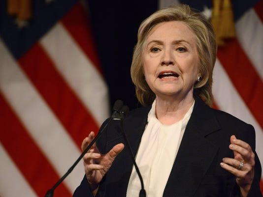 EPA USA NEW YORK HILLARY CLINTON SPEECH POL POLITICS USA NY