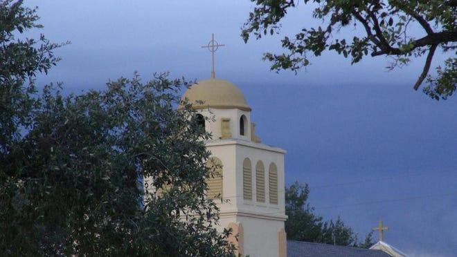 The Santa Rosa de Lima Catholic Church & Plaza in Benavides