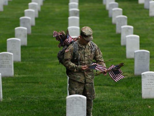 TOPSHOT-US-MILITARY-MEMORIAL DAY-FLAGS