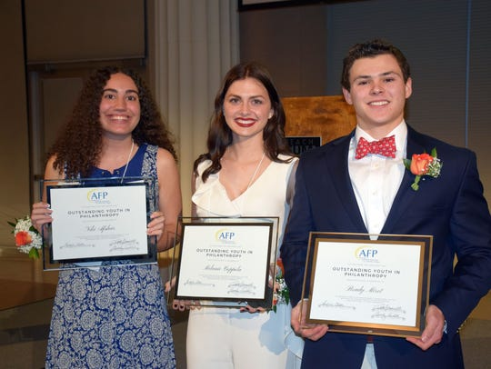 Outstanding Youth in Philanthropy honorees were Niki