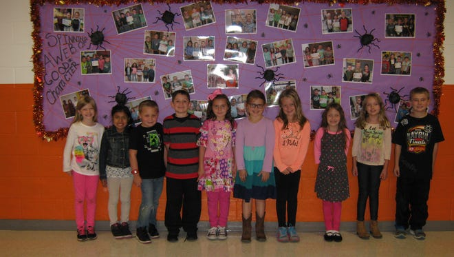 Second-graders named Students of the Month for September at Janvier School in Franklin are: (from left) Summer Sougstad, Xochitl Hernandez, Anthony Dalponte, Anthony Ribchinsky, Natalia Gualtieri, Ellie Fanz, Caelyn Quick, Bianca Berlin, Emily Ehrler and Ethan DuBois.