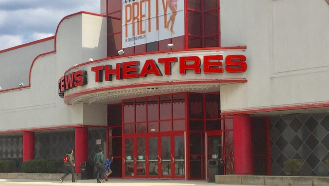Patrons enter the AMC Loews Theatres complex off Route 38 in Cherry Hill Wednesday.