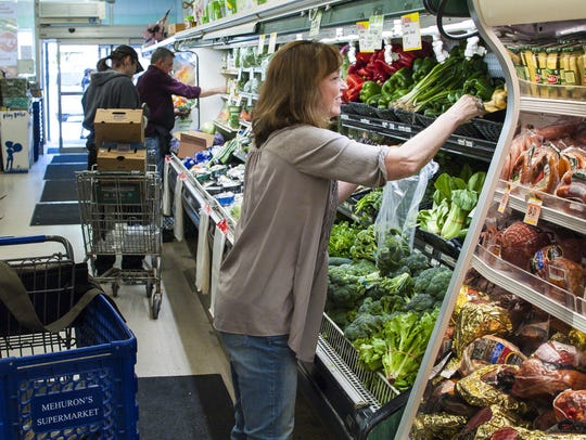 Kathy Mehuron shops at Mehuron's Supermarket in Waitsfield