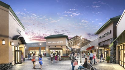 The former Biltmore Square Mall will be transformed into a 25,000-square-foot outlet shopping center, as seen in this rendering. It is expected to open in the spring of 2015.