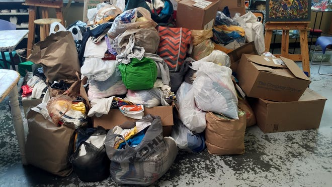 Ms. Cheap's T-shirt drive for the participants at Room In The Inn brought in nearly 2,800 shirts.