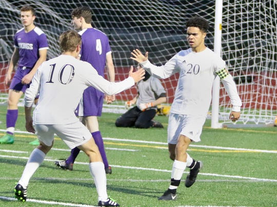 Klahowya's Darius Joe (20) scored two goals in the Eagles' recent victory over North Kitsap.